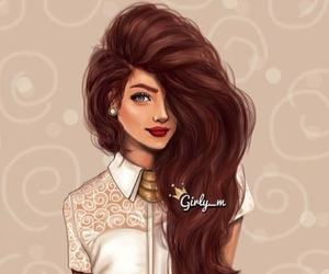 awesome, girl, and drawing image
