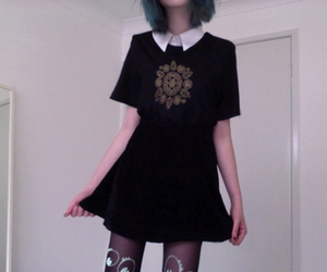 girl, pale, and dress image