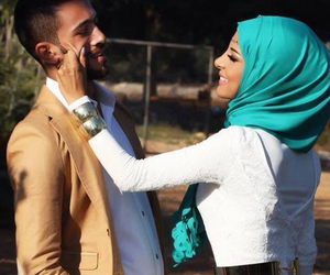 love, muslim, and couple image
