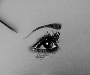 black and white, pencil, and draw image