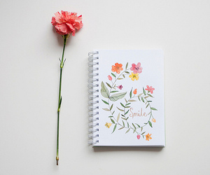 flowers, smile, and art image