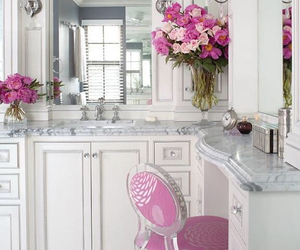 pink, white, and decor image