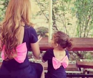 pink, dress, and mom image