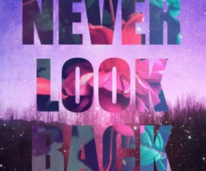 never look back image