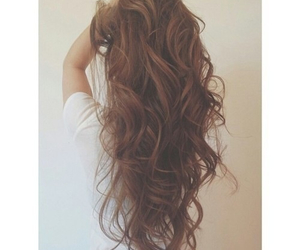 hair, brown, and curly image