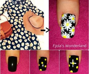 nails, tutorial, and spring image