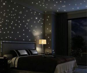 bedroom, stars, and room image
