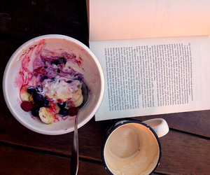 book, food, and coffee image