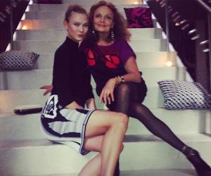 chic, model, and dvf image