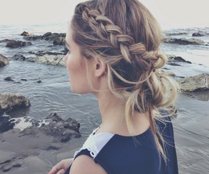 hair, braid, and beach image