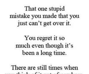 mistakes, quote, and regret image