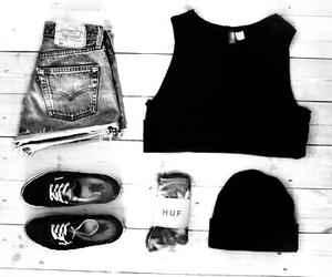 fashion, black, and vans image