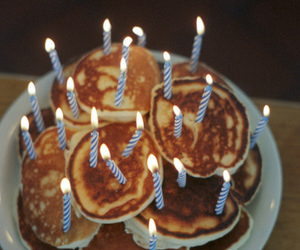 pancakes, food, and birthday image