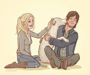 beth, twd, and daryl dixon image