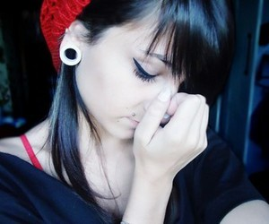 girl, piercing, and photography image
