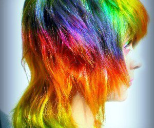 hair, girl, and colorful image