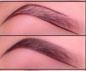 brown, makeup, and eyebrow image
