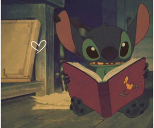 books, cartoons, and heart image
