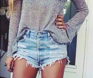 fashion, outfit, and knit sweater image