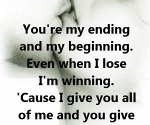 endings, Lyrics, and all of me image