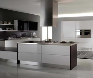 contemporary, interior, and kitchen design image