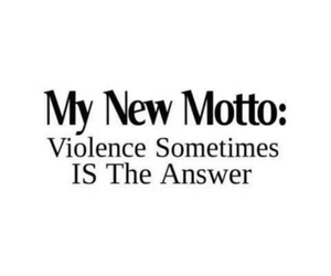answer and violence image