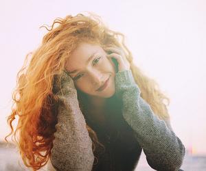 girl, redhead, and hair image