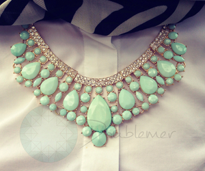 necklace, fashion, and green image