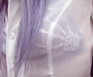 hair, bra, and purple hair image