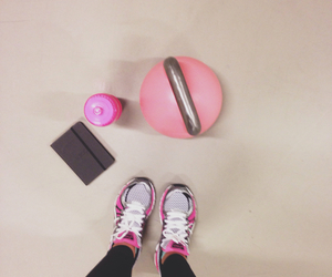 pink, training, and kettlebells image