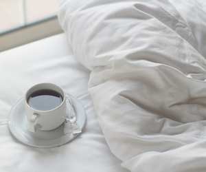 bed, coffee, and tea image