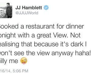 tweet, jj hamblett, and twitter image