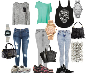 outfit, fashion, and sneakers image