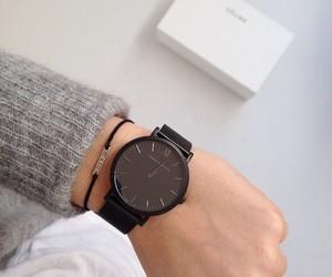 black, clock, and minimalism image