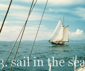 ocean, sail, and typography image
