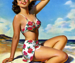 50s, vintage, and beach image