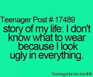 ugly, teenager post, and clothes image