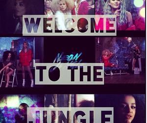 neons, welcome to the jungle, and love image