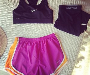 fit, nike, and shorts image