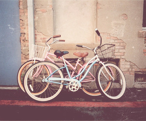 bicycle, blue, and pink image