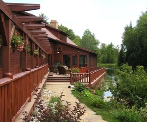villa, wooden balustrade, and house building image