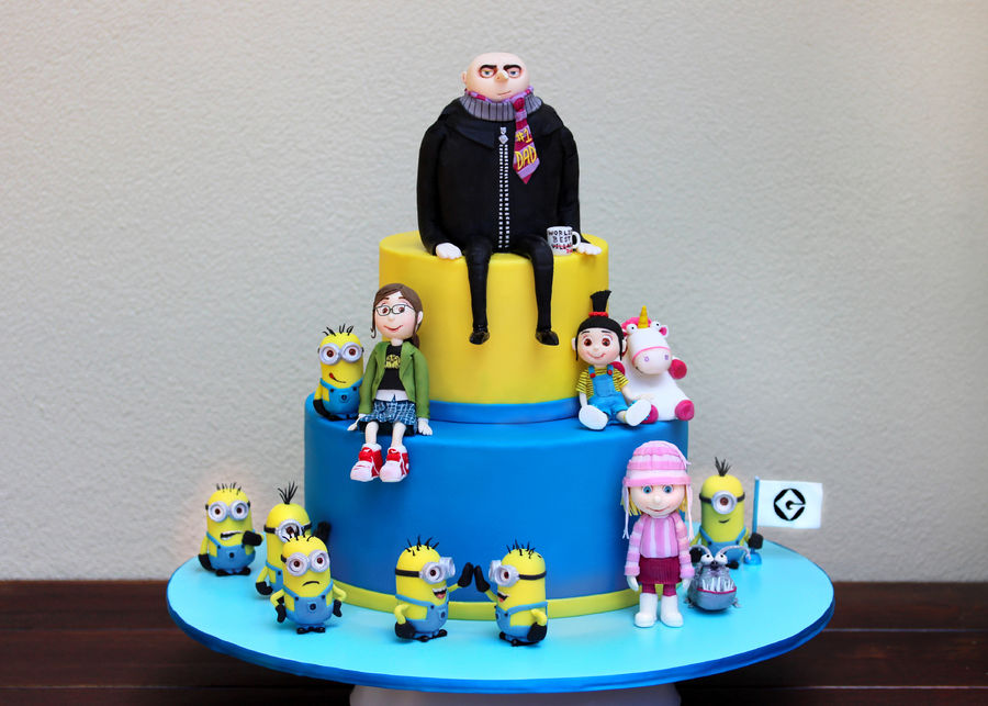 Despicable Me Birthday Cake Uploaded By Juliana Minotto