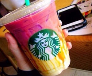 coffee, colorful, and starbucks image