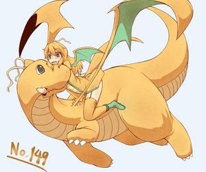 dragon, kawaii, and dratini image