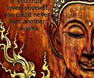 love, Buddha, and hurt image