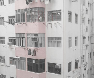 building, pink, and pale image