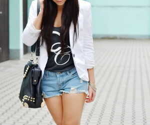 fashion, pretty, and leather image