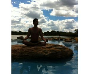 heaven, yoga, and peace image