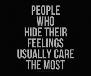 quote, feelings, and care image