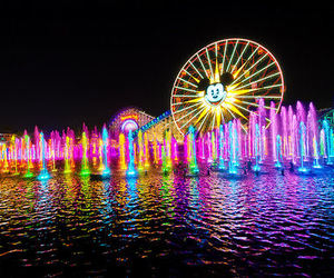 lights, colors, and disney image
